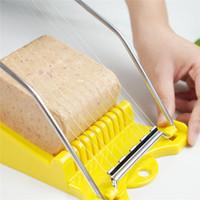 Luncheon Meat Slicer gekochtes Ei Fruit Slicer Edelstahl weiche Speisen Käse Sushi Cutter Fleischkonserven Schneidewerkzeug Küchenhelfer JK2001