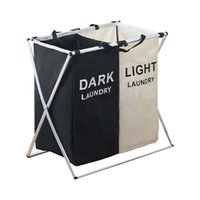 Laundry Basket Two Three Grids Dirty Clothes Storage Basket ...