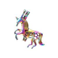 Ciondolo Gabbia Arcobaleno Animal Color Cavallo perla per Aroma Profumi Medaglioni olio essenziale diffusore la collana che fa