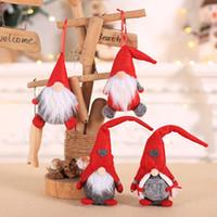 حار بيع عيد الميلاد دمية الحلي القطيفة Tomte دمية الديكور المنزلي حفل زفاف عيد الميلاد ديكور للطفل الأحمر شجرة عيد الميلاد زخرفة HH9-2511