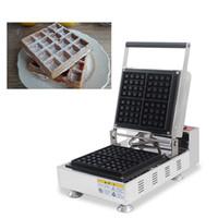 Yapışmaz Squre Şekilli Belçika Liege Waffle Makinesi Elektrikli 110 v 220 v Brüksel Waffle Demir Baker Yapma Plaka