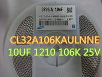 100 sztuk / partia Ceramiczne CL32AA106KALNNE 10UF 1210 106K 25V