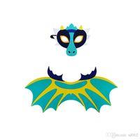 Dinosaur Ala Manto Terno de feltro Dragão Cosplay Costumes Serpe Gélida máscara do partido Dia das Bruxas Executar Prop multi Estilo 10 5djb1
