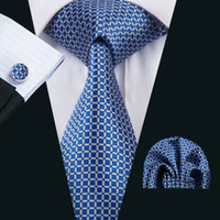 FA- 1518 New Arrive Fashion Ties For Men Blue Plaids Jacquard...