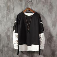 Mode Hommes cassé Trou style Hip Hop Sporting Sweats Homme Marque Vêtements Coton Streetwear Sweat Survêtement