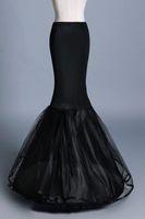 cpa1197 nueva sirena Negro Mujer Enaguas 1 aro de dos capas de tul enaguas de boda Accesorios crinolina barato