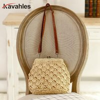 2019 New Fashion Handbags Women Summer Rattan Bag Handmade W...