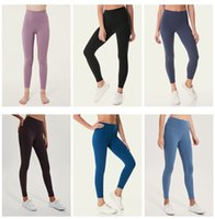 Hohe Qualität LU-32 Solid Color Frauen Yoga Pants hohe Taillen-Sport-Hosen Fitnessbekleidung Leggings Elastic Fitness Lady Overall Voll Tights Workout