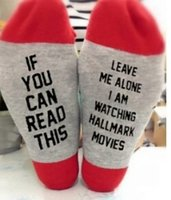 IF YOU CAN READ THIS letters socks for men women luxury desi...