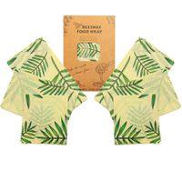 6pcs / bolsa 2S + 2M + 2L cera de abejas abrigos de tela natural libre de almacenamiento de alimentos Wrap Envoltura respetuoso del medio ambiente reutilizable Más Tipo Para el hogar