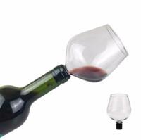 Kreative Rotwein Champagner-Glas-Schale mit Silikondichtung Getränk direkt aus Flasche, Kristallglas, Cocktail-Becher 500ML Guzzle Tasse