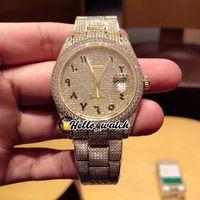 Novo Gypsophila Diamond Dial Seagull 2824 Mens automático relógio 126333 126334 126234 Árabe Mark Ouro 904L Steel Diamond Bracelet Olá_Watch