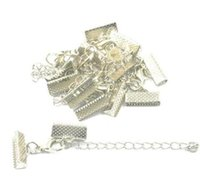 La cinta 100pcs cordón de cuero extremo del cierre Cierres extendedor de cadena de langosta Conectores Cierres para la joyería que hace resultados de DIY brazalete 6x16mm