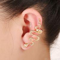 Snake orelha mangueira Único brincos punk earcuffs partido vintage clipe brincos hip hop declaração jóias acessórios para mulheres presente de natal