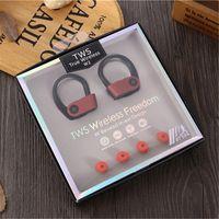 W2 TWS gancho del oído Deportes auriculares colorido Mini Hi-Fi inalámbrico Bluetooth V5.0 Auricular Auriculares inalámbricos Teléfonos principales auriculares para el iPhone Andorid