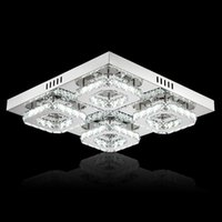 Fashion Square moderna LED Crystal Light Surface Mounted lampada lampadari di cristallo del soffitto sala per le lampade per vivere Camera