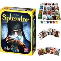 Version anglaise complète du jeu de société Splendor Large Box / Personnaliser le jeu Splendor Playmat en caoutchouc de haute qualité 60X35 cm