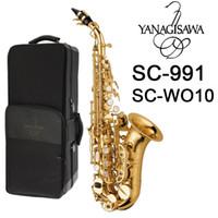 Giappone Yanagisawa Sassofono Soprano curvo SC-991 SC-WO10 elettroforesi oro Sax Soprano Curvo Bocchino Ance collo strumento musicale