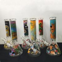 7mm Becherglas-Bong-dicke Glasöl-Righs 14 Zoll mit Elefantengelenk Super schwere Glas Wasserleitung