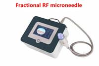 الذهب المحمولة كسور RF إبرة مجهرية الترددات الراديوية الجلد الإبرة الصغيرة تشديد تجعد العلاج إزالة آلة النظام الجمال