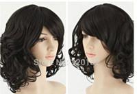 Бесплатно SHIPPIN + ++ + C волна здоровые волосы косплей костюм партии парик Revlon тела шелк база закрытие Великобритания индийский ткать нет кружева фронт