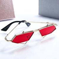 Homens de metal retro punk vapor flip óculos de sol 2019 flip óculos de sol homens e mulheres modelos maré senhoras triângulo óculos de sol