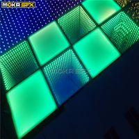20pcs Spiegel Fußboden und 20pcs führte Bühne Farbe Bodenbeleuchtung RGB 3in1 3D-Tanzboden zum Verkauf für Wediding Concert TV Show