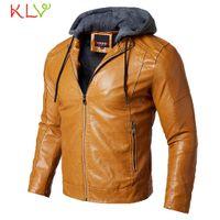 Männer Winterjacke Reißverschluss Dicker Mantel Leder Casual Lange 2018 Neue Marke Milltary Manteau Homme Hiver Plus Größe 2XL 18Nov26