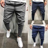Mężczyźni S Fashion Skinny Stretch Spodnie Slim Fit Straight Leg Suit Spodnie