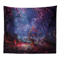 Wishing Trees 3D Print Tapestry Wall Hanging Psychedelic Dec...