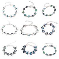 moda Braccialetti di conchiglie di abalone naturale per donna Bohemien bohemien farfalla cuore braccialetto ragazze fascino gioielli regalo