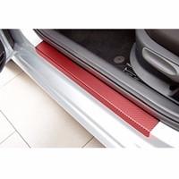 4D Araba Karbon Elyaf Sticker Kapı Çizilmeye dayanıklı anti-vuruş Folyo Koruma Pad Çıkartmaları Su geçirmez Otomobiller Dış