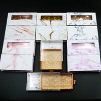 3D Mink pestañas del paquete Cajas pestañas falsas cuadrada de mármol embalajes vacíos caja de pestañas pestañas Caso Caja del empaquetado 12styles RRA3190