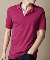 새로운 여름 패션 남성 폴로 셔츠 큰 말 짧은 소매 남자는 영국의 디자인 캐주얼 폴로 GB 영국 클래식 T 셔츠 레드 퍼플 S-XXL 탑