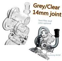 cendres receveur 14mm bong joint d'eau en verre de la cuve et des tuyaux de 14mm bong la plate-forme de forage tamponner des accessoires pour la cire