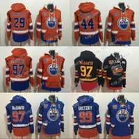 Edmonton Oilers Hoodie 97 Connor McDavid 29 Leon Dragaisaitl 44 Zack Kassian 99 Wayne Gretzky Hoodie Sweater Hockey Jerseys
