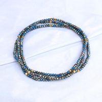 Declaración de los granos del cristal de vidrio KELITCH joyería de los collares con cadena larga de moda artesanal Strand Collares Gargantillas Bijoux Mujer