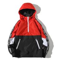 Yizlo куртка ветровка мужчины Jaqueta Masculina балахон свободные молния колледж куртки