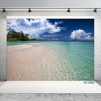 cielo azul de mar playa de vinilo fondos fotográficos para sesión de fotos paño 7X5ft para niños Telones Estudio boda amante bebé foto
