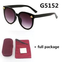 جديد 5152 العلامة التجارية النظارات الشمسية uv حماية مصمم سيدة نظارات الشمس النظارات إطار كبير 5 ألوان مع مربع