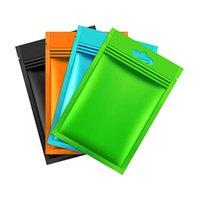 Multicolor esealable Mylar zip lock sacos de folha de alumínio sacos lisos Metallic Mylar folha plana Ziplock Armazenamento de Alimentos Sacos Pouch D0801