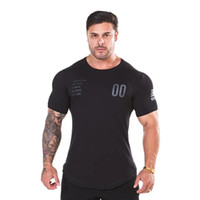 Новая обычная одежда фитнес футболка мужчины O-образным вырезом футболка хлопок Бодибилдинг футболки топы тренажерные залы футболка Homme