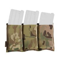Triple M4 Mag Pouch Tactical Molle Rapida Sacchetto caricatore di ricarica per Airsoft Wargame Gear Painball Caccia