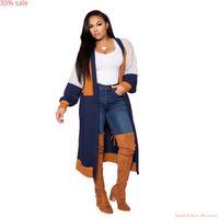 Vêtements femme Mode femme Trench Automne Taille Plus Manteau manches longues en vrac Cardigan Designer Manteaux longs