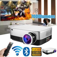 Portable LCD Projector Cinema Theater Movie wifi bluetooth L...