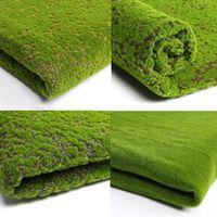 1 pc Artificial Musgo Falso Plantas Verdes Falso Musgo Grama para Loja Pátio Home Decoração Verde 100 * 100 cm