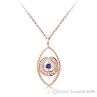 Trendy oro rosa argento colori cristallo gioielli fascino collane choker ciondoli malvagio per le donne delle signore ragazza amore regalo