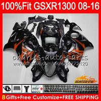 Injection Pour SUZUKI Hayabusa GSXR1300 08 2008 2018 GSXR 1300 25NO.77 GSXR-1300 08 09 10 11 12 13 14 15 16 17 18 noir orange Carénages OEM