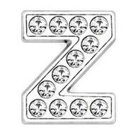 50PCS / 많은 8mm 전체 라인 스톤 블링 슬라이드 문자 Z DIY의 매력은 8mm 가죽 팔찌 전화 SL0013 스트립에 적합