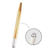 Penna permanente 100pcs / lot della penna manuale del tatuaggio del tatuaggio 3D della penna di Microblading del sopracciglio di trucco veloce della lega di alluminio di DHL
